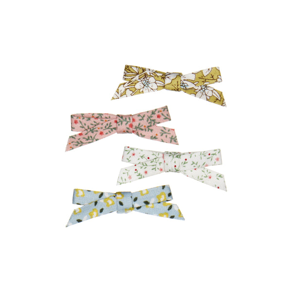 Betty floral bow clips BY MIMI AND LULA
