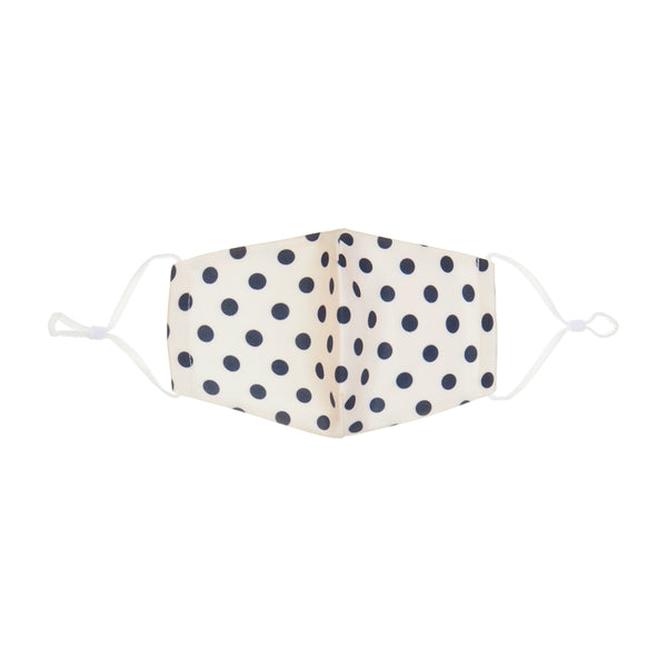 Polka dot print face mask - adult