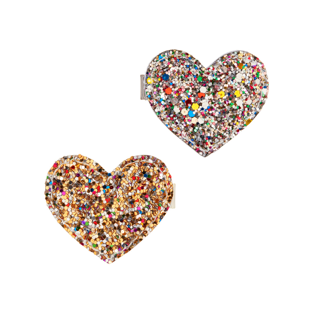 Dazzling heart clips