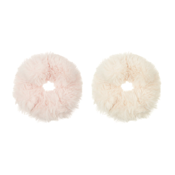 Super soft furry scrunchies