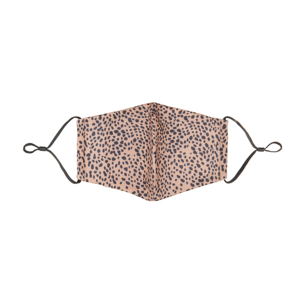 Adult animal print face mask-brown