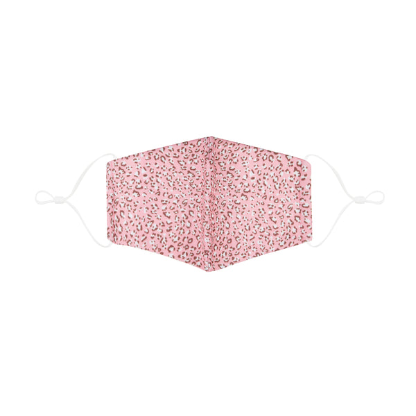 Adult leopard print face mask-pink
