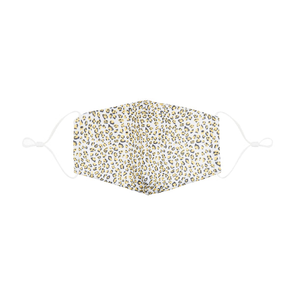 Adult leopard print face mask-yellow