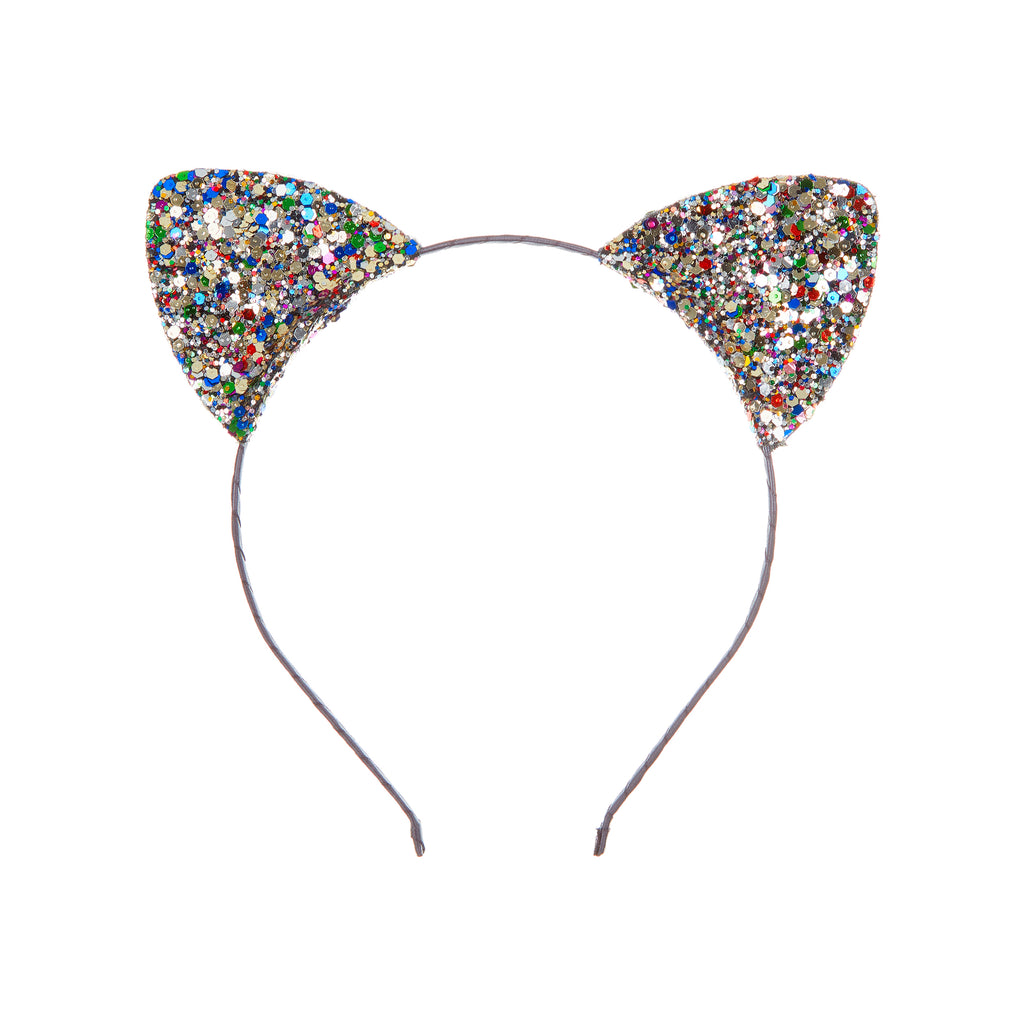Multi glitter cat ears
