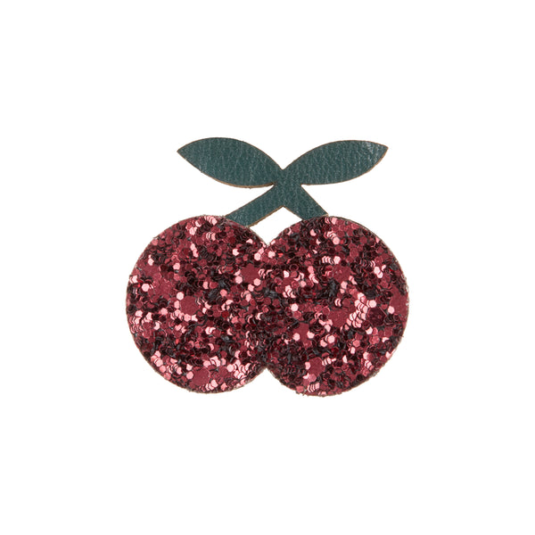 Glitter cherries clips