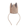 Glitter crown alice band in Gold by MIMI & LULA