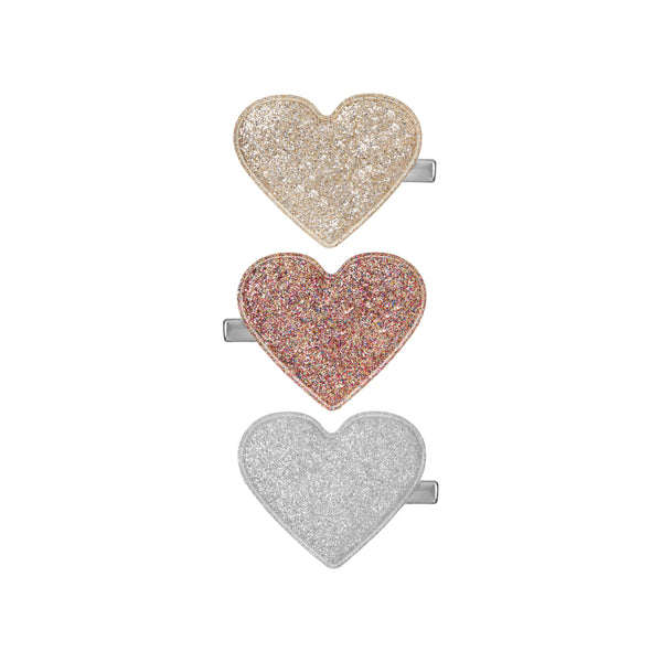 Glitter sweetheart salon clips in Metallic by MIMI & LULA