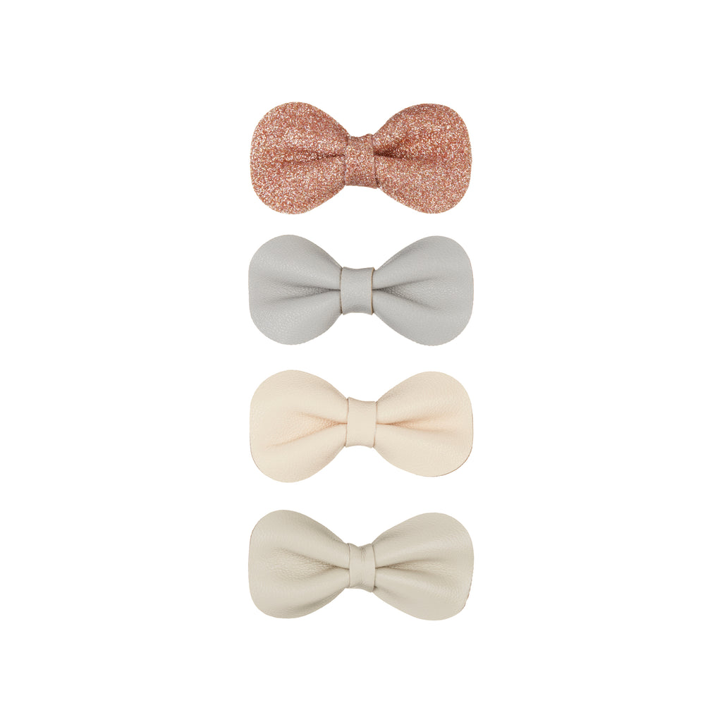 Gracie bow clips-neutral
