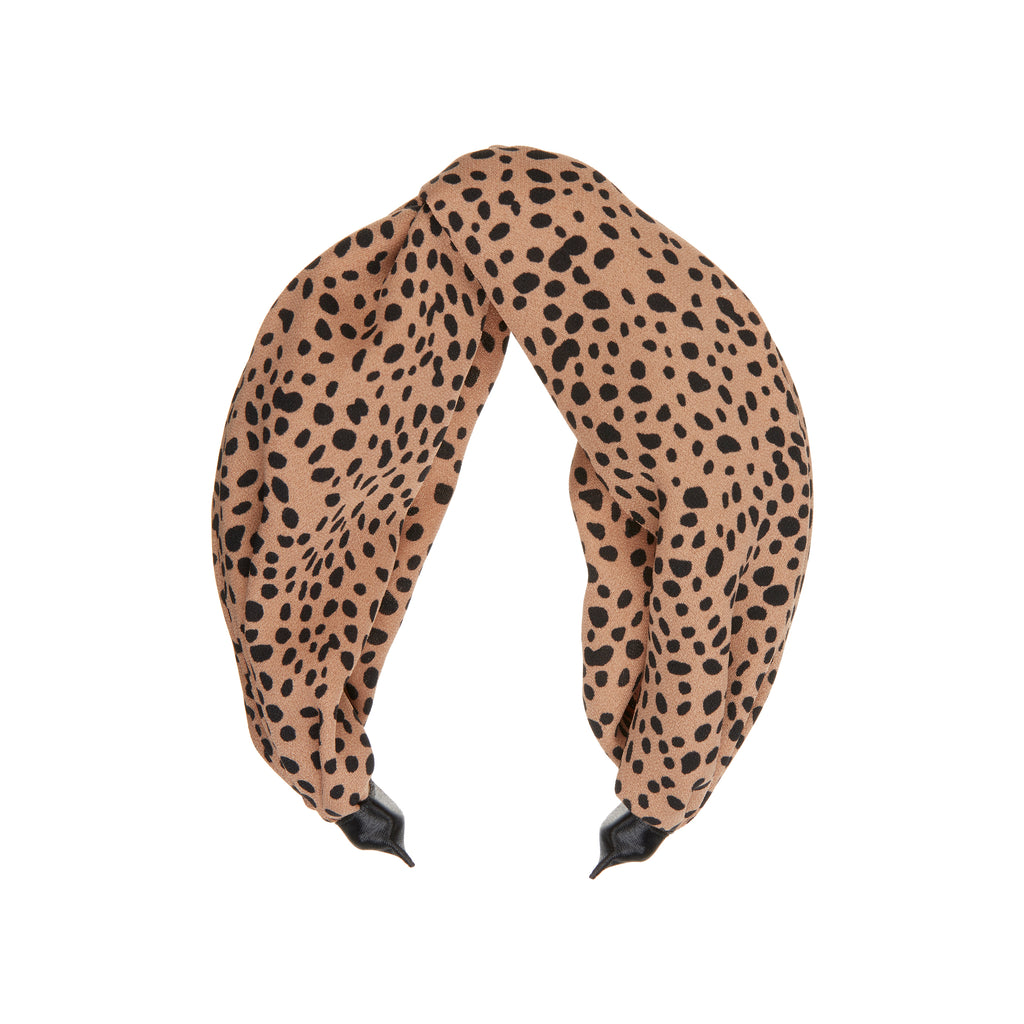 Leopard extra wide alice band