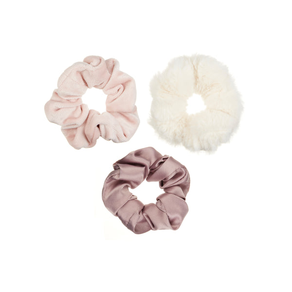 Blush luxe scrunchie pack