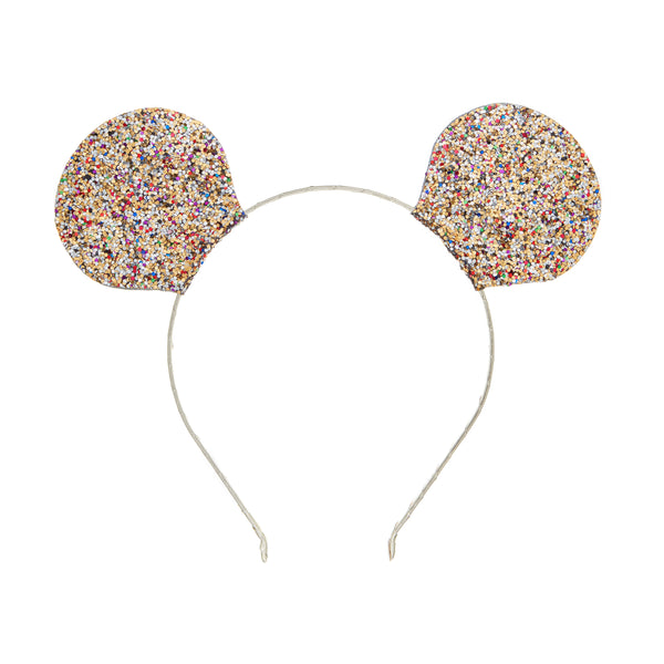 Mega sparkle mouse ears in Multi by MIMI & LULA