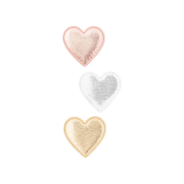 Metallic sweetheart clips