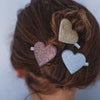 Glitter sweetheart salon clips