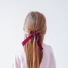 Arabella velvet bow clips