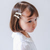 Metallic Jeanie bow clips