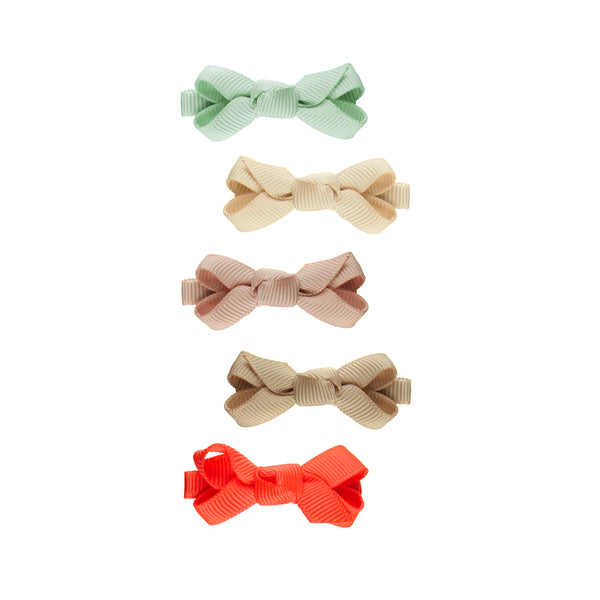 Mini Florence bow salon clips