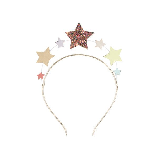 Rainbow mini star headdress