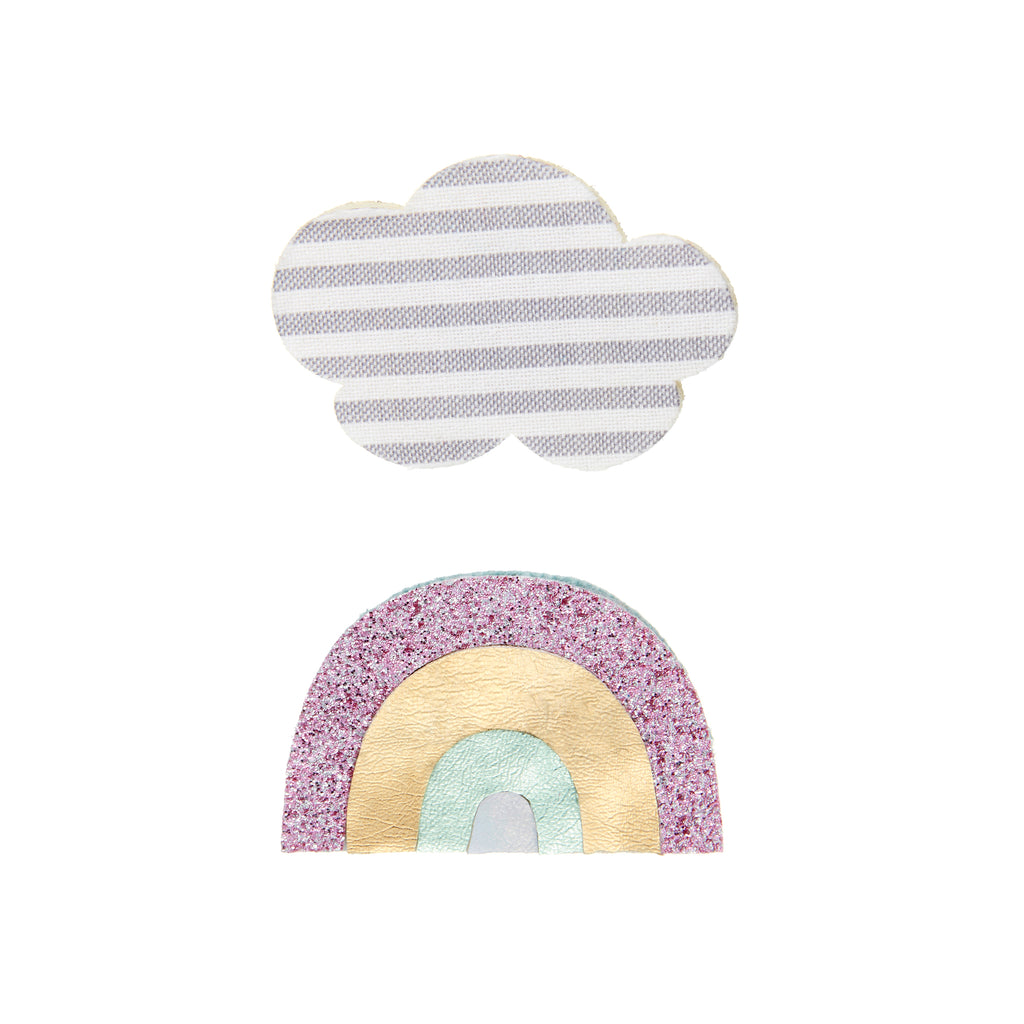 Rainbow & cloud clip pack