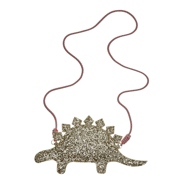 Glitter stegosaurus cross body bag BY MIMI AND LULA
