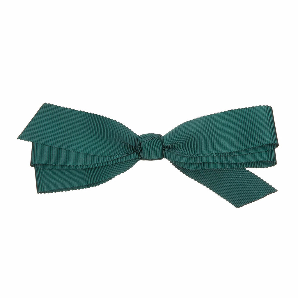 Head girl grosgrain bow salon clip