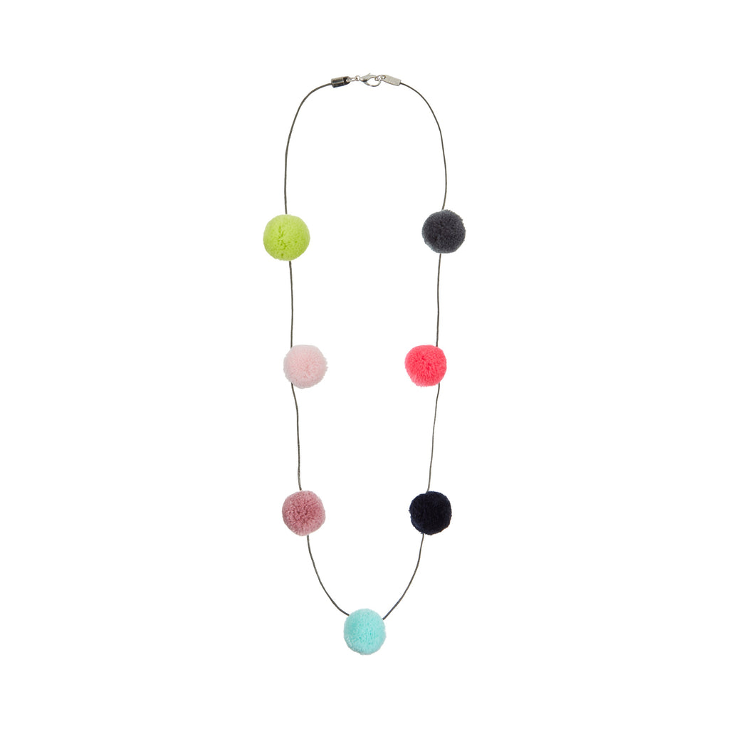 Pom pom garland necklace