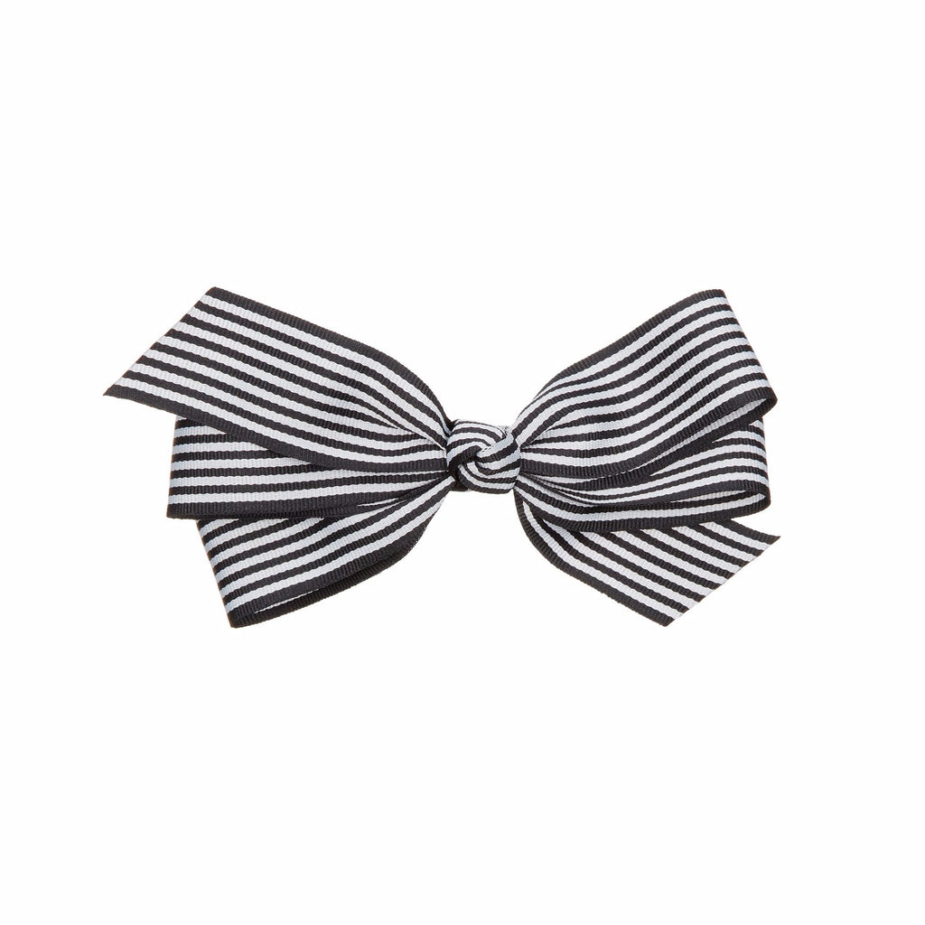 Preppy striped bow barette