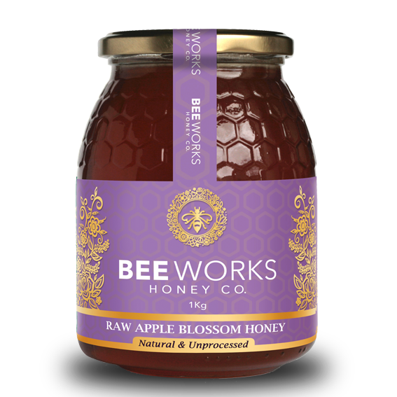 Raw Apple Blossom Honey - 1kg
