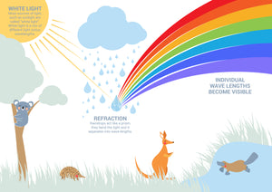 Free Printable Rainbows & Light Colouring Page