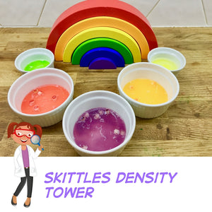Skittles density tower