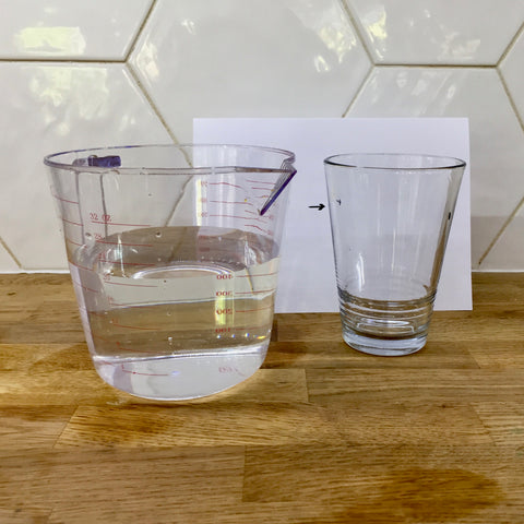 Simple items needed to conduct an experiment on light refraction