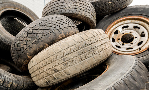 Old tyres end up in landfill