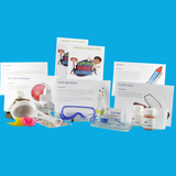 Contents of the Chemistry-in-Action science kit for kids