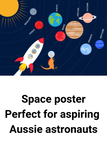Australian Space Poster