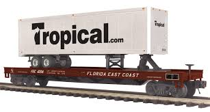 20-95276 - Florida East Coast Flat Car w/ 40' Trailer -  (Tropical.com)