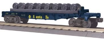 30-76459 Santa Fe Flat Car w/Wheel Set