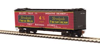 80-94054 - Brookside Fresh Milk R40-2 Woodside Reefer Car