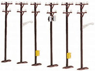 30-1088 6 Piece Telephone Pole Set MTH