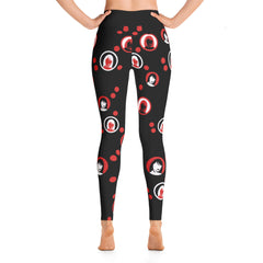 Black Waist Liv All-Over Print Yoga Pants