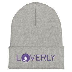 Purple Logo Knit Cuffed Beanie