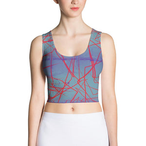 Abstract lines yoga top Crop Top