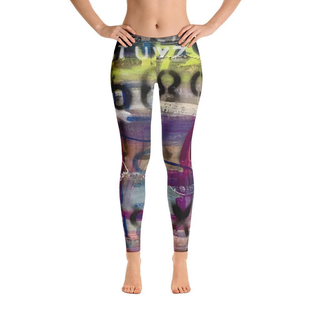 Abstract Love Leggings