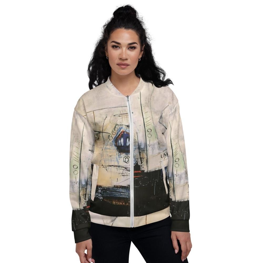 Abstract Unisex Bomber Jacket