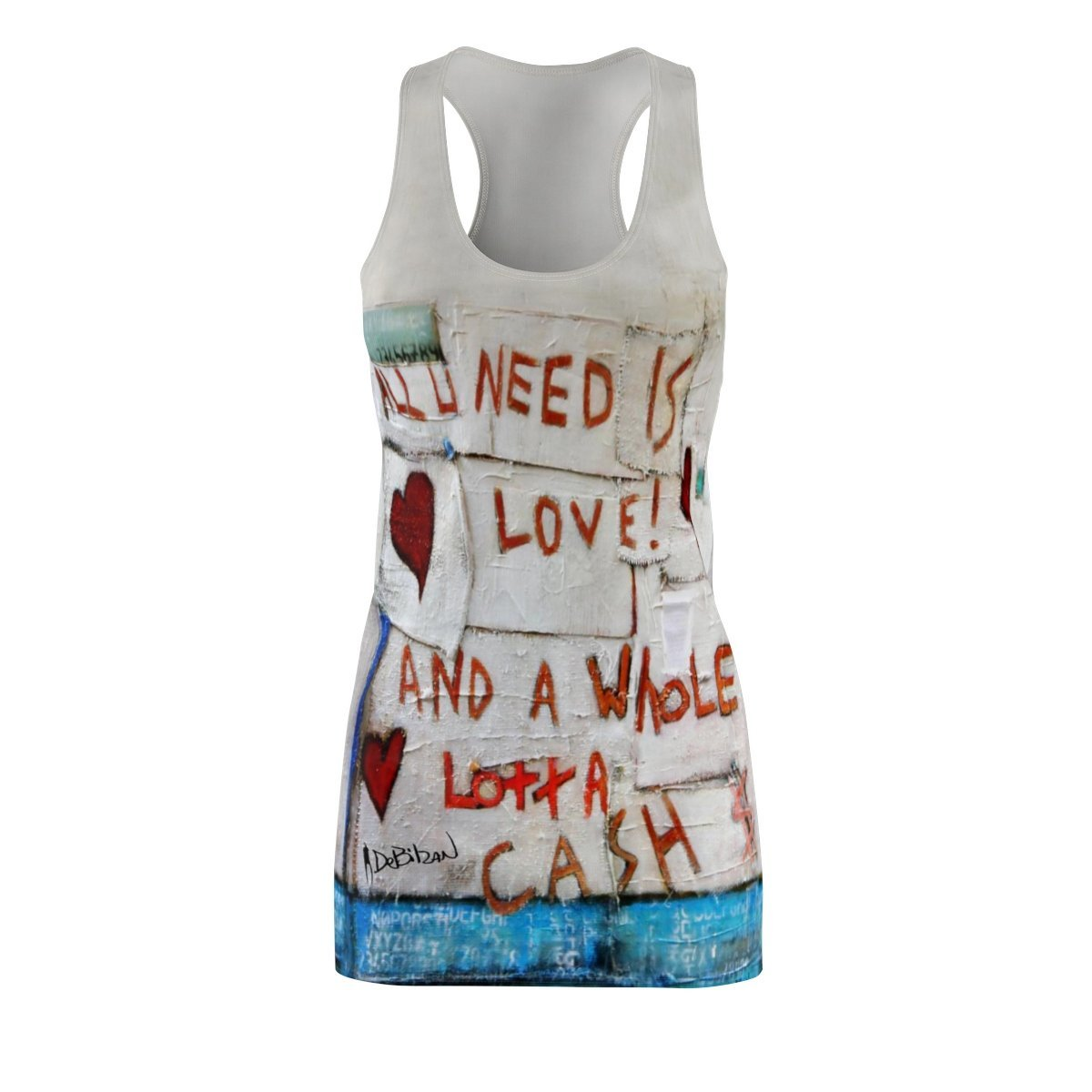 All You Need Is  Love + Cash One Piece Dress - DeBilzan Gallery