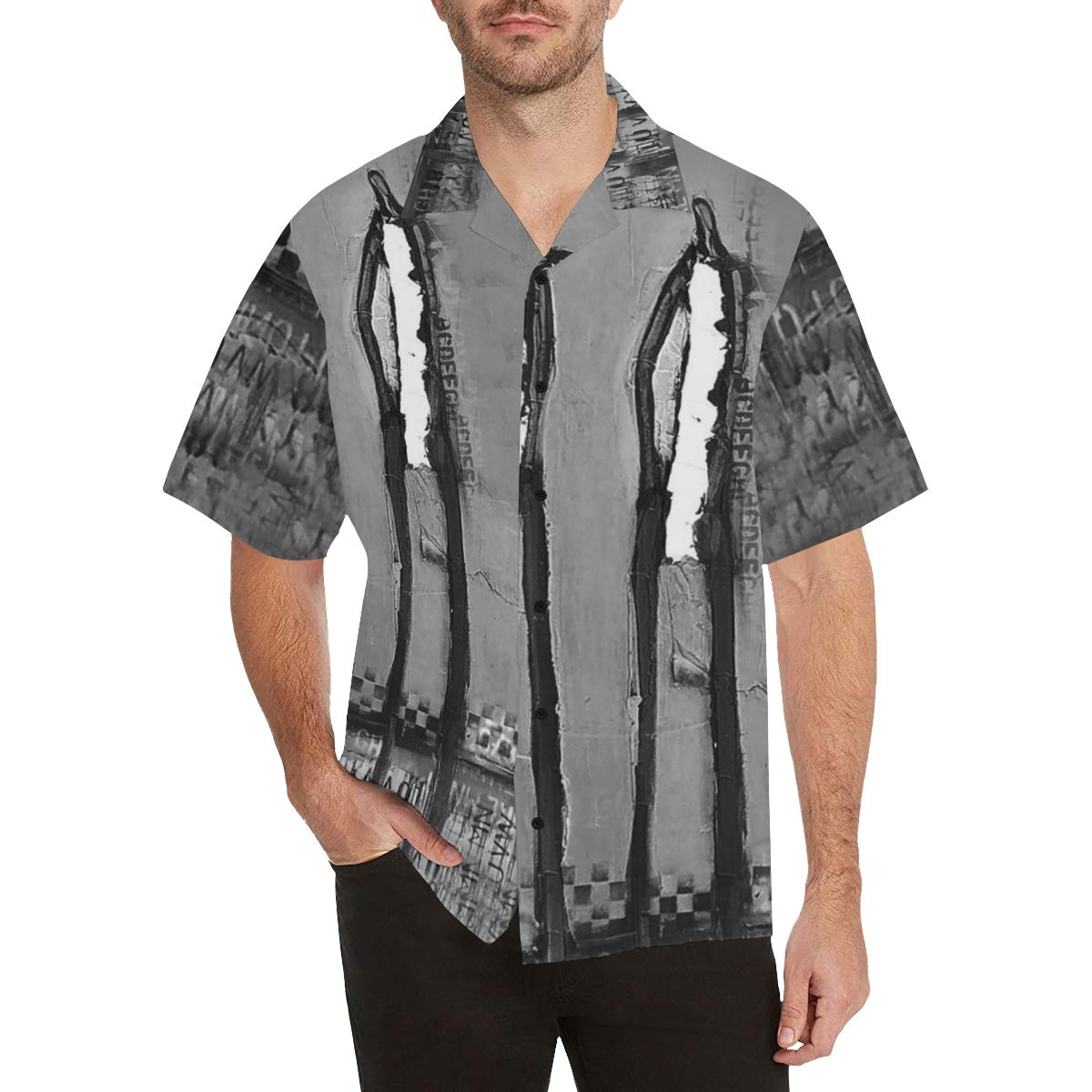 All-over Shirts Black & White DeBilzan Hawaiian Shirt