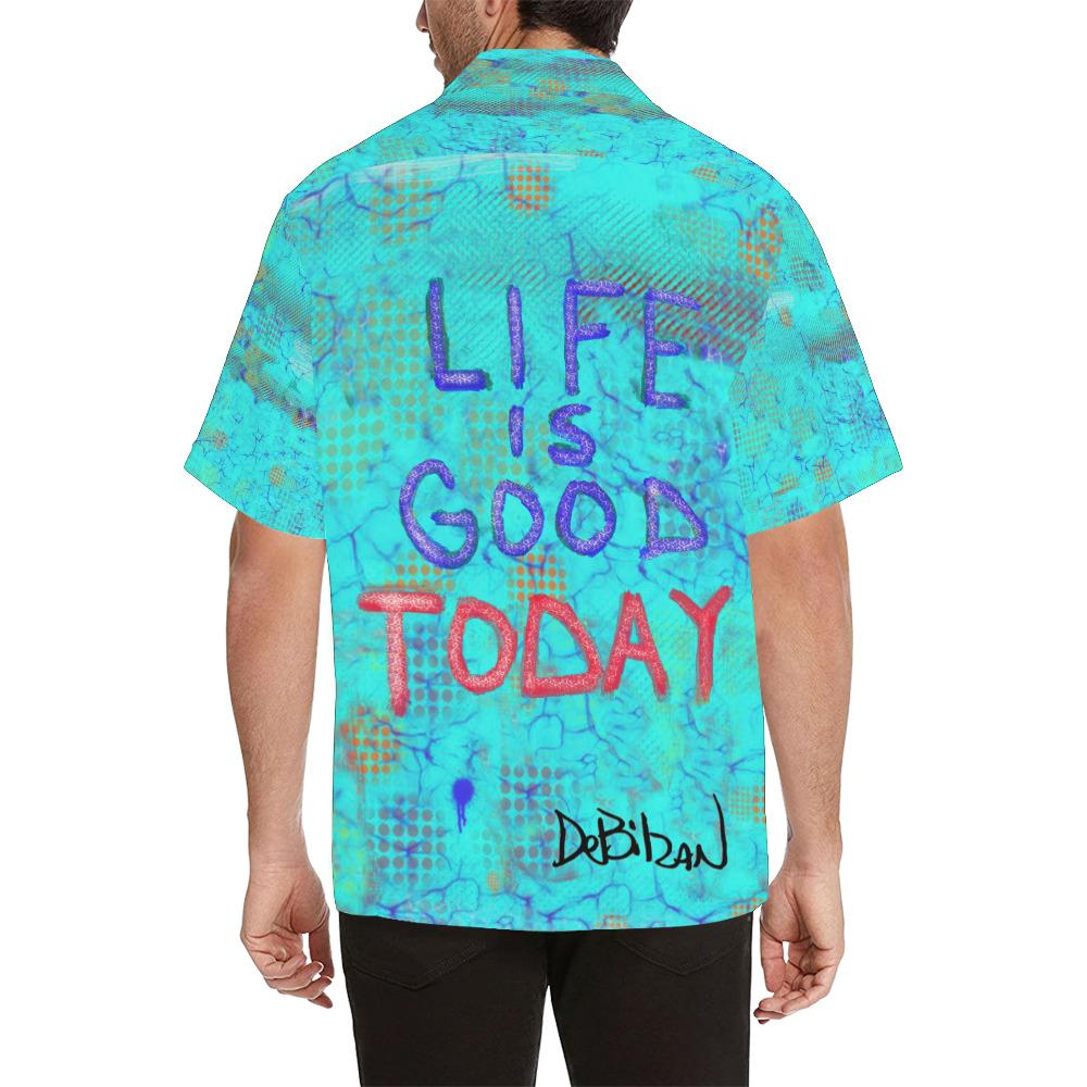 All-over Shirts life is good today Men's All Over Print Hawaiian Shirt (Model T58)