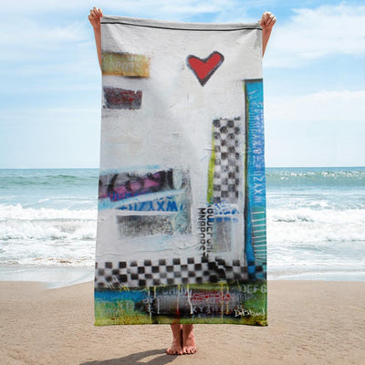 Beach Towel 80's Wall Beach Towel