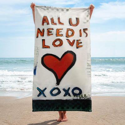 Beach Towel All You Need Is Love Towel