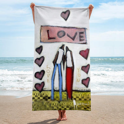 Beach Towel Love You Towel