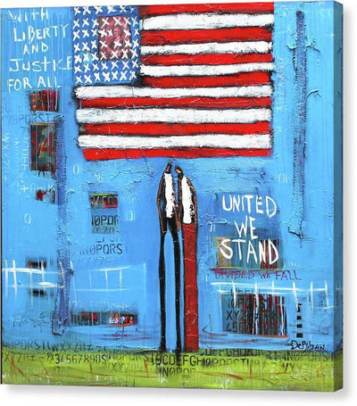 Canvas Print Liberty and Justice  - Canvas Print