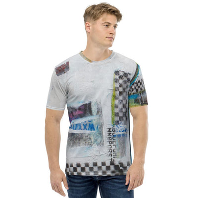 Cheakered Abstrarct Men's T-shirt